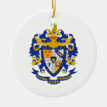 SAE Coat of Arms Color Double-Sided Ceramic Round Christmas Ornament