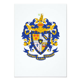 SAE Coat of Arms Color Personalized Announcement