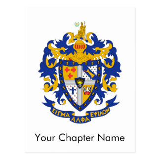 SAE Coat of Arms Color Postcard