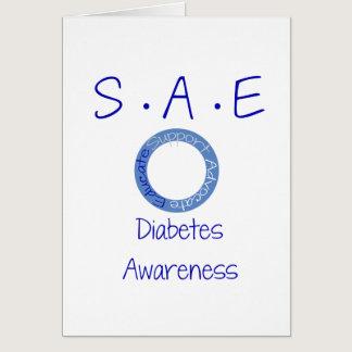 SAE Diabetes Awareness Card