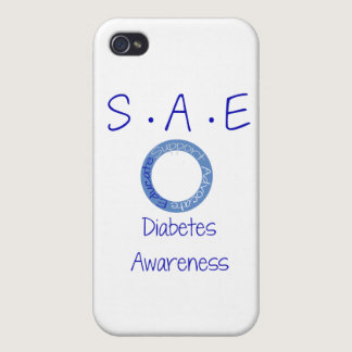 SAE Diabetes Awareness Cover For iPhone 4