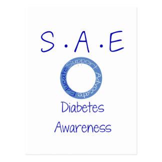 SAE Diabetes Awareness Postcard
