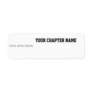 SAE Wordmark Return Address Label