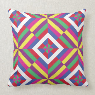 Saekdong Korean Buddhist Lucky Stripes Origami Throw Pillow