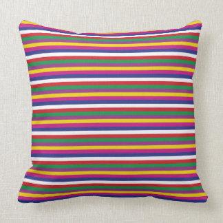 Saekdong Korean Stripes Lucky Seven Stripes Throw Pillow