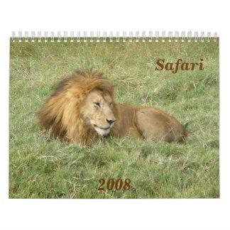 Safari 1 calendario de pared