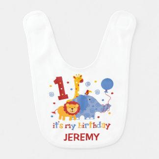 Safari 1st Birthday Baby Bib