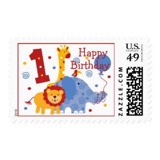 Safari 1st Birthday Custom Postage