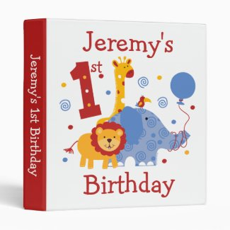 Safari 1st Birthday Keepsake Binder