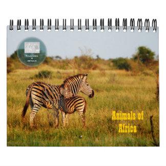 Safari 2012 de África de los animales salvajes Calendarios
