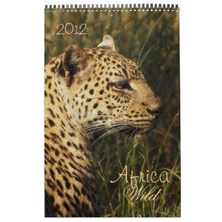 Safari 2012 de África de los animales salvajes Calendario
