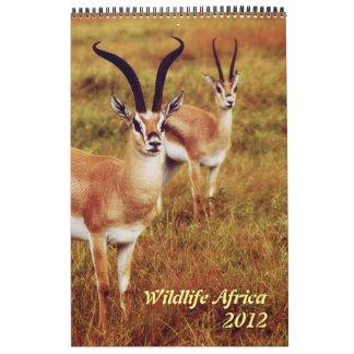 Safari 2012 de África de los animales salvajes Calendarios De Pared