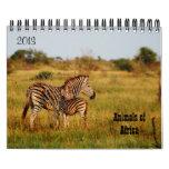 Safari 2013 de África de los animales salvajes Calendarios
