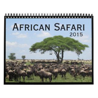 safari 2015 calendario de pared