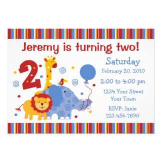 Safari 2nd Birthday Custom Invitation