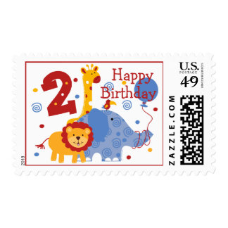 Safari 2nd Birthday Custom Postage