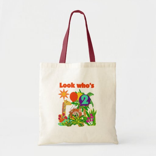 Safari 2nd Birthday T-shirts and Gifts Budget Tote Bag