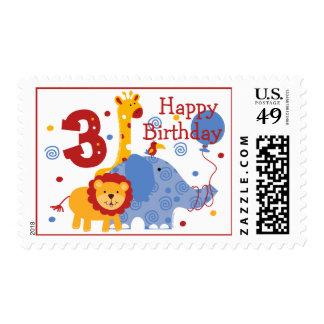 Safari 3rd Birthday Custom Postage
