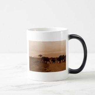Safari Africa Cute Adorable Destiny Elephant 11 Oz Magic Heat Color-Changing Coffee Mug