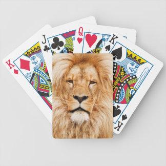 Safari África de rey Of The Jungle Face del león Baraja