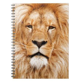 Safari África de rey Of The Jungle Face del león Libreta Espiral