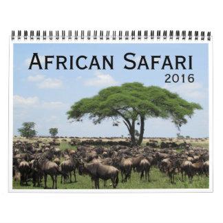 safari africano 2016 calendarios de pared