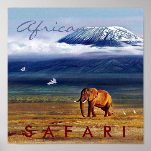 Safari africano posters