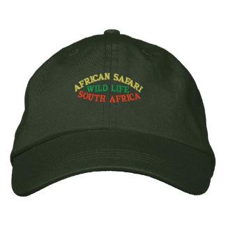 SAFARI AFRICANO, SURÁFRICA GORRA DE BEISBOL BORDADA