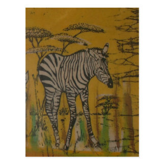 Safari africano Zebra.png de Kenia de la vida salv Tarjeta Postal