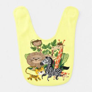 Safari animal babero de bebé