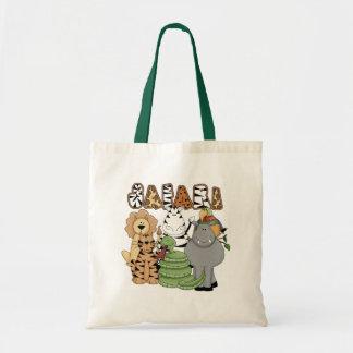 Safari animal bolsas de mano