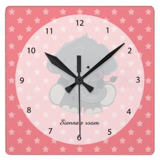 Safari Animal, choose your own background color Clocks