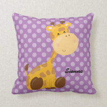 Safari Animal, choose your own background color Throw Pillow