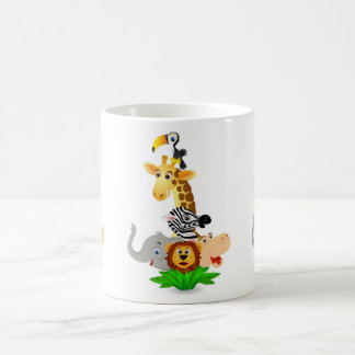 Safari animal coffee mug