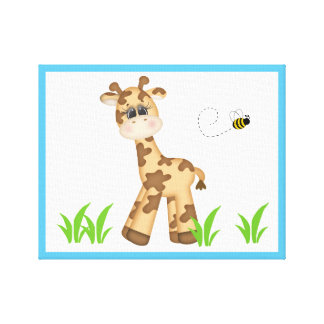 Safari Animal Giraffe Baby Nursery Wall Art Print