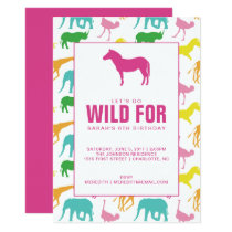 Safari Animal Girl Birthday Party Invitation