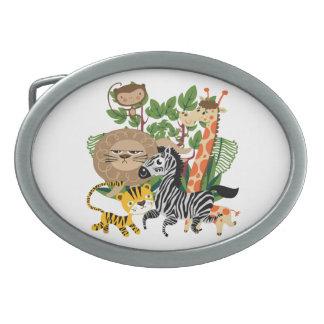 Safari animal hebilla de cinturón oval