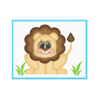 Safari Animal Lion Baby Nursery Wall Art Print