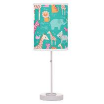 Safari Animal Nursery Print Desk Lamp