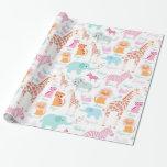Safari Animal Nursery Print Wrapping Paper