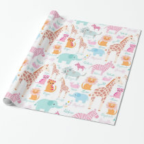 Safari Animal Nursery Print Wrapping Paper