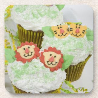 Safari animal party cupcakes. coaster