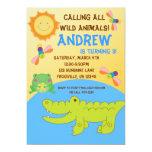 Safari Animal Pond Birthday Party Invitation