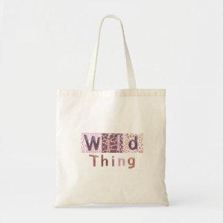 Safari Animal Print With Saying Tote Bag