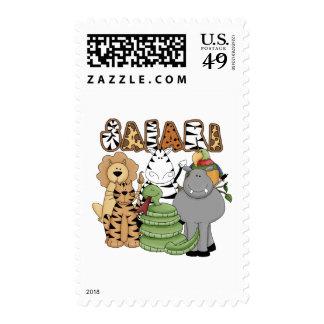Safari animal sellos