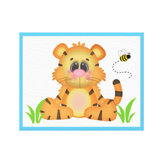 Safari Animal Tiger Baby Nursery Wall Art Print