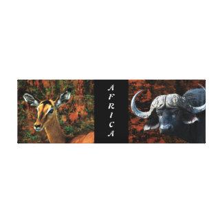 safari animals Africa buffalo impala Gallery Wrap Canvas