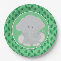 Safari Animals | Baby Elephant Paper Plate