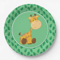 Safari Animals | Baby Giraffe Paper Plate