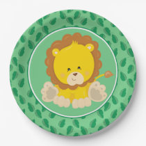 Safari Animals | Baby Lion Paper Plate